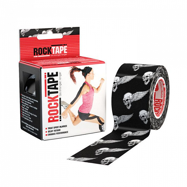 Тейп Rocktape Design 5см х 5м череп